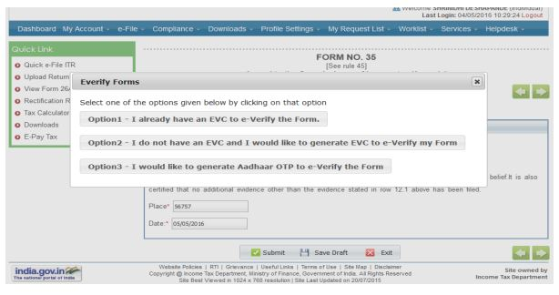 e verify Form 35