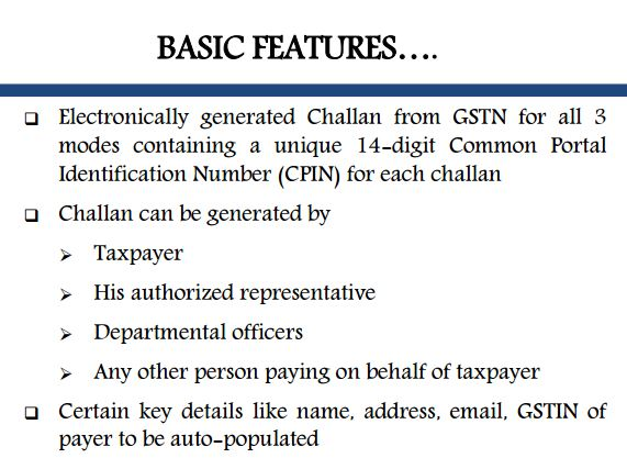 5.Basic Features gst payment