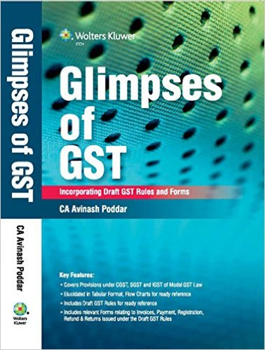 Glimpses of GST is a Handbook covering provisions under Model GST Law. It is not a commentary but a complete guide for the Tax professionals, Departmental officers, Industry professionals and as well as the beginners who are looking forward to know more about GST. The provisions under CGST, SGST and IGST Act are captured in a Tabular format and are extracted as Flow Charts for easy understanding. The Author have also made a comparison between the Old and the New Statute which helps to identify the carve outs and areas of focus.