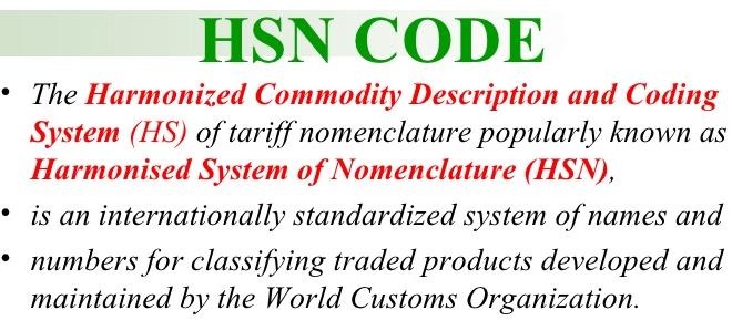 HSN Code GST