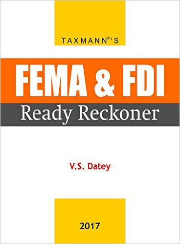 FEMA & FDI Ready Reckoner (January 2017 Edition)