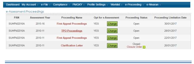 e-Proceeding / e -Assessement under Income Tax -User Manual