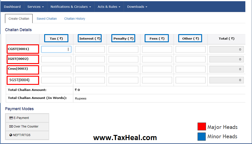 GST Challans Screen Shots