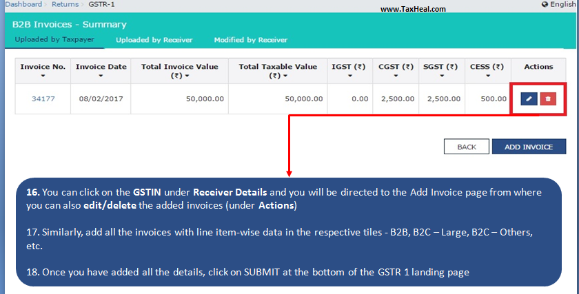 how to send gst return