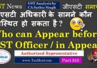 authorized reprentative gst