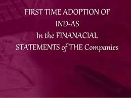 first Ind AS financial statements