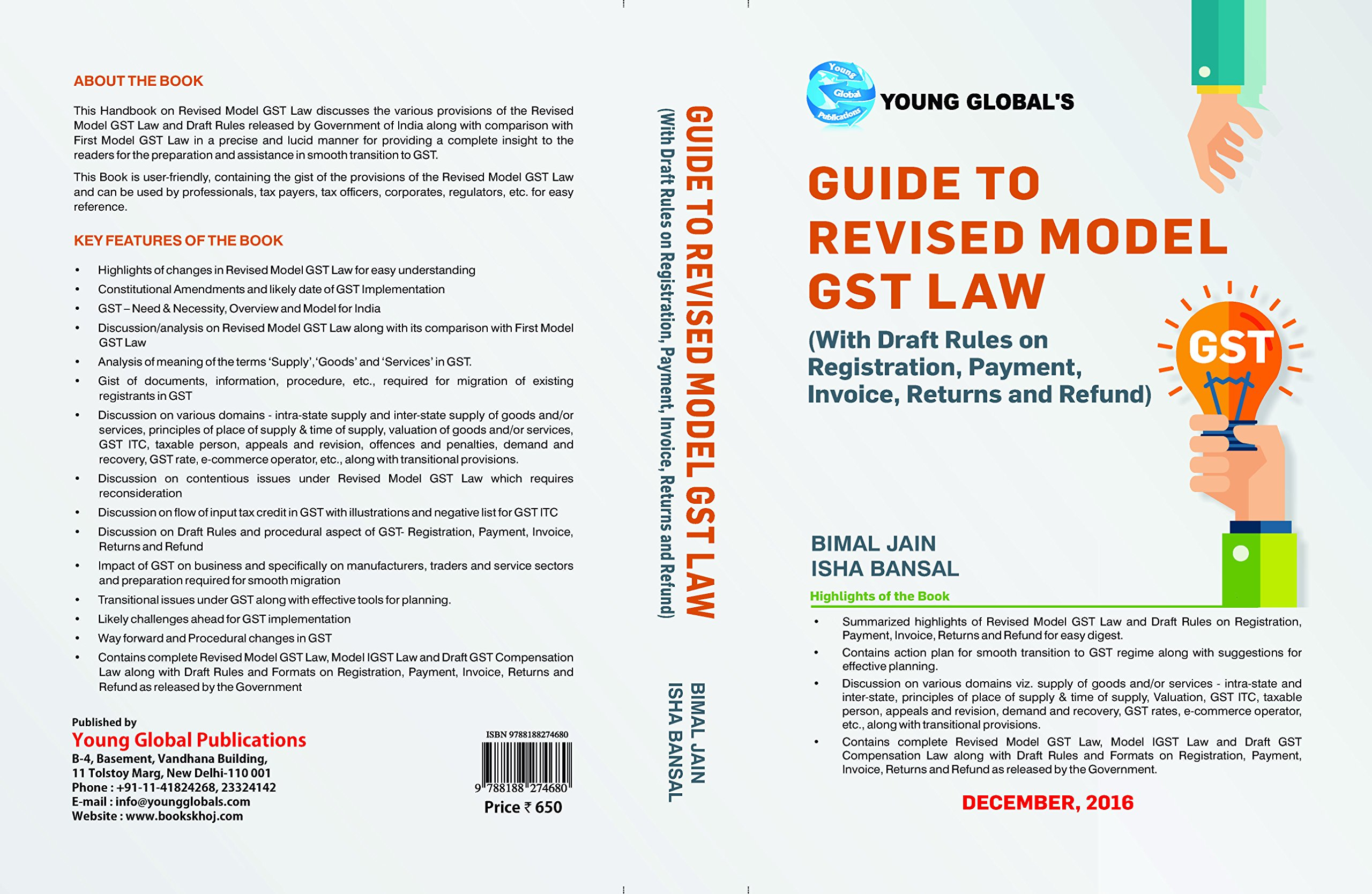 GST Book by BIMAL JAIN GUIDE to Revised Model GST Law by BIMAL JAIN