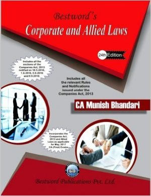 Corporate & Allied Laws Book for CA Final May 2017 by Munish Bhandari