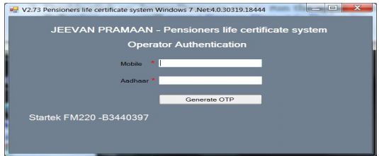 procedure to generate Jeevan Pramaan / Digital Life Certificate