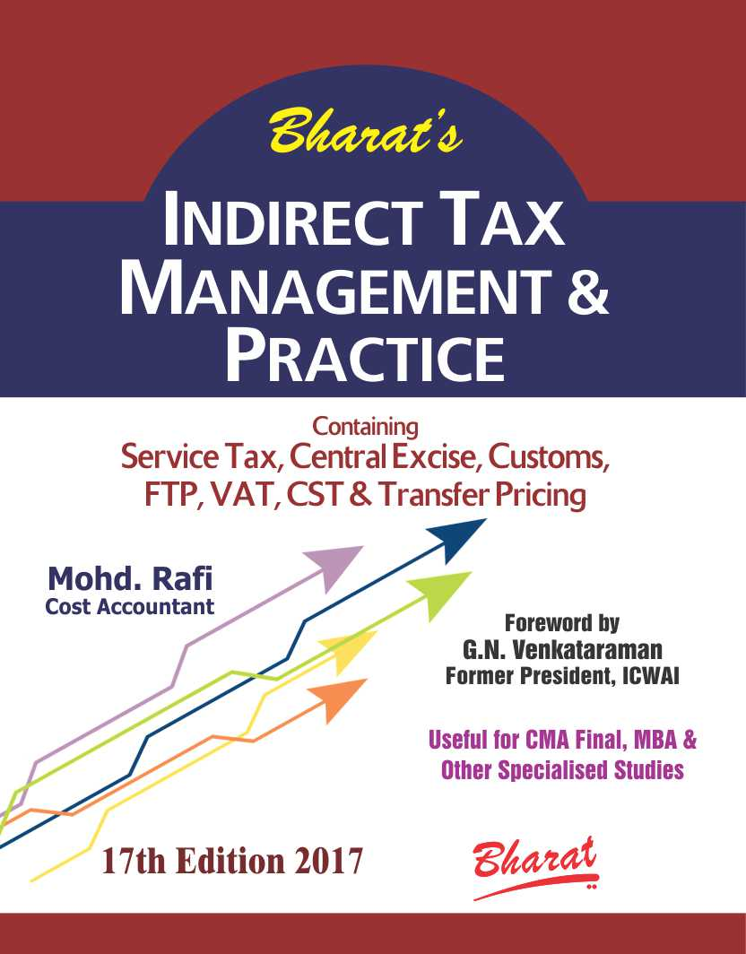 INDIRECT TAX MANAGEMENT & PRACTICE (For CMA Final