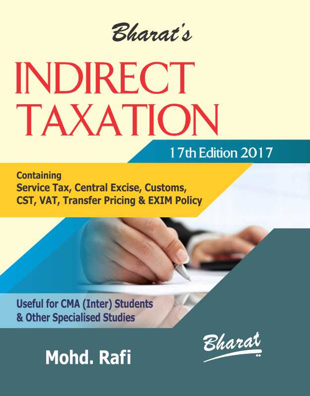 Indirect Taxation Book for CMA Inter