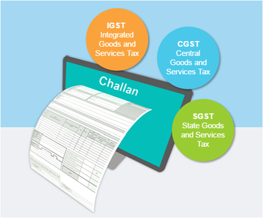 GST Challans single for igst cgst and sgst