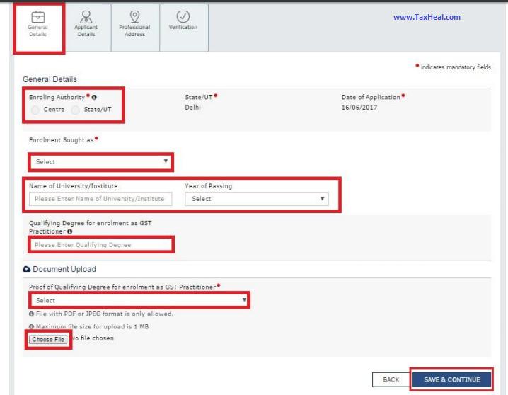 gst practitioner screen login - 9