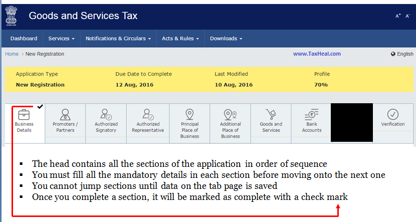 Apply for GST New Registration
