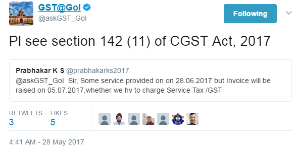 Services provided before GST Act and Invoice raised Afterwards , How to pay tax