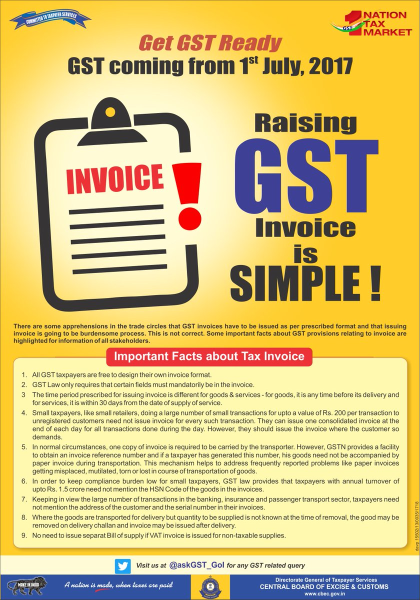 GST Invoice Sample - Single Rate Inter-State