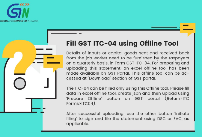 How to Fill GST ITC 04 with Offline Tool on GST Portal