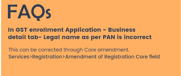 How to correct Legal name of Business in GST Registration