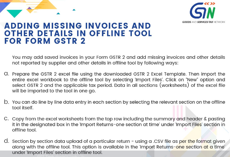 How to Add missing Invoices in GSTR 2 with Offline Tool