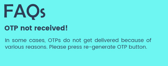 What to do if OTP not received after GST Registration