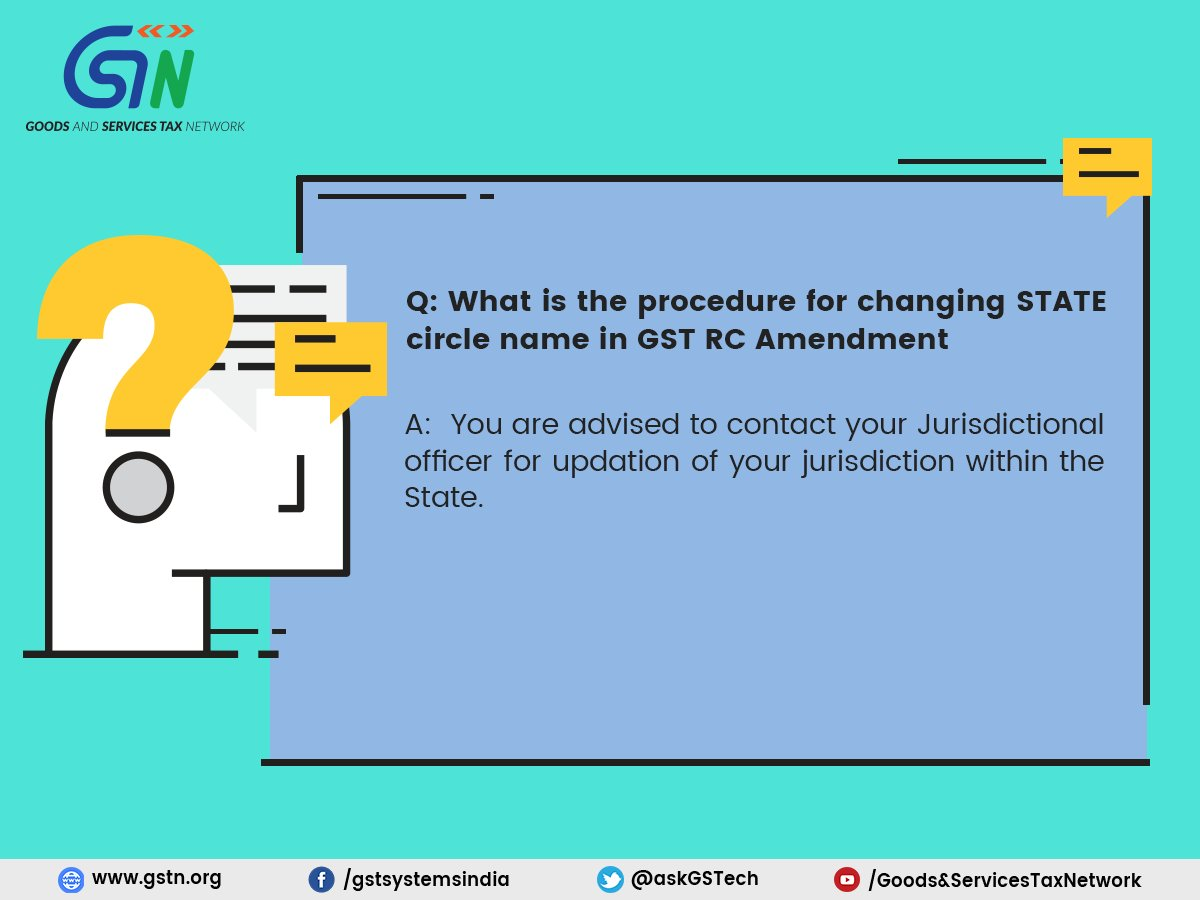 Change State Circle name in GST registration Certificate