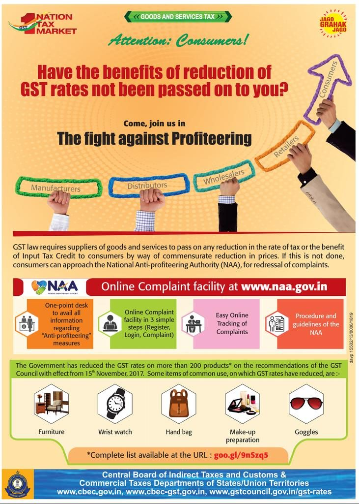 Online Complaint to GST Anti Profiteering authority