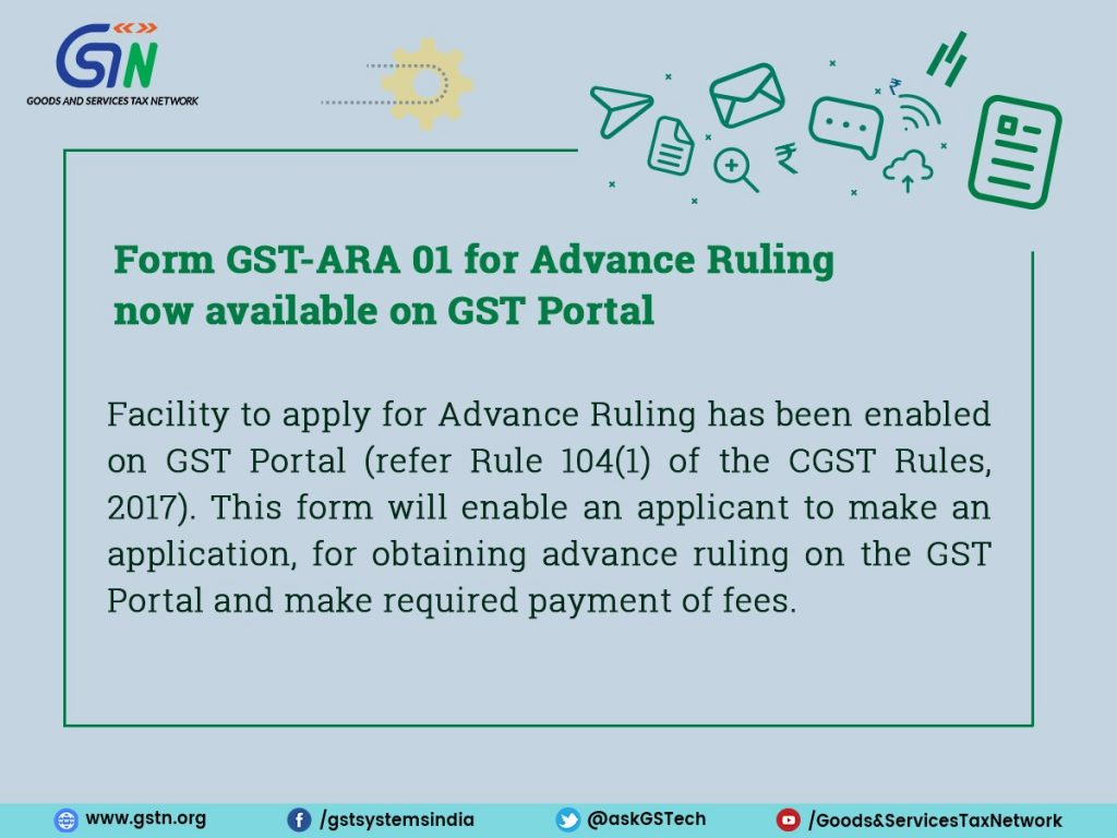 Apply online for GST Advance Ruling