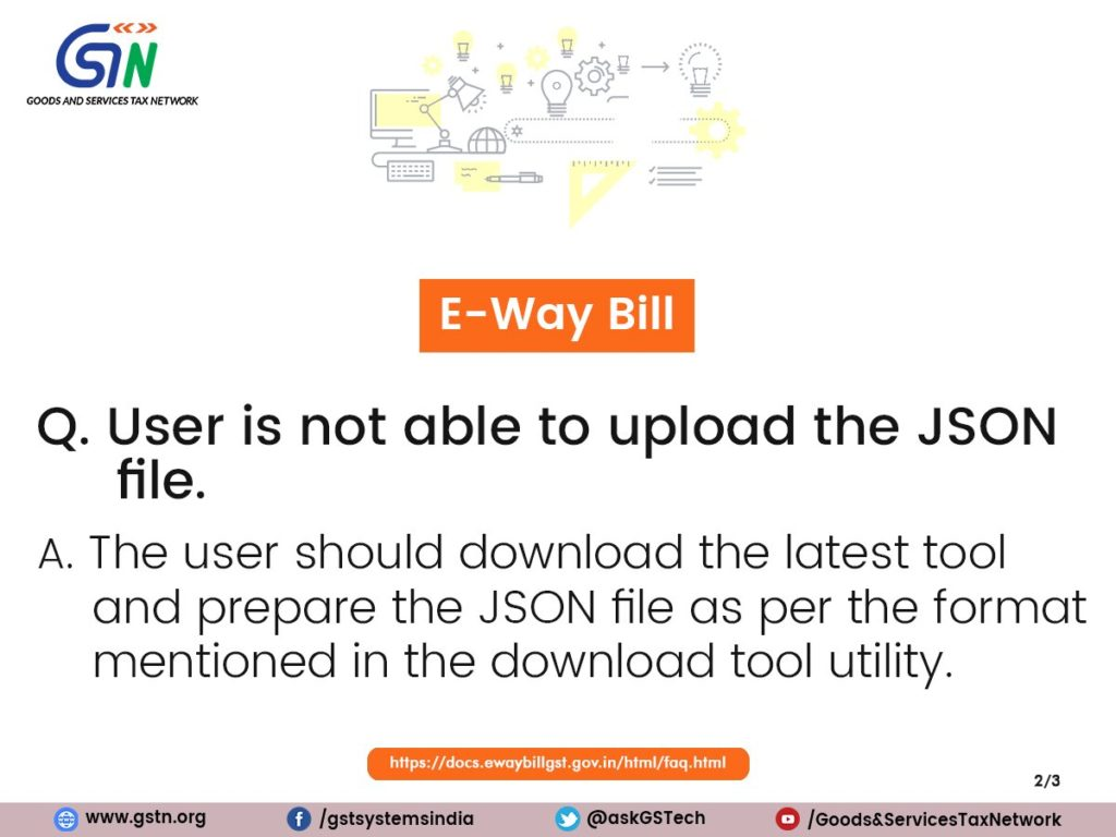 JSON file on E-Way Bill Portal