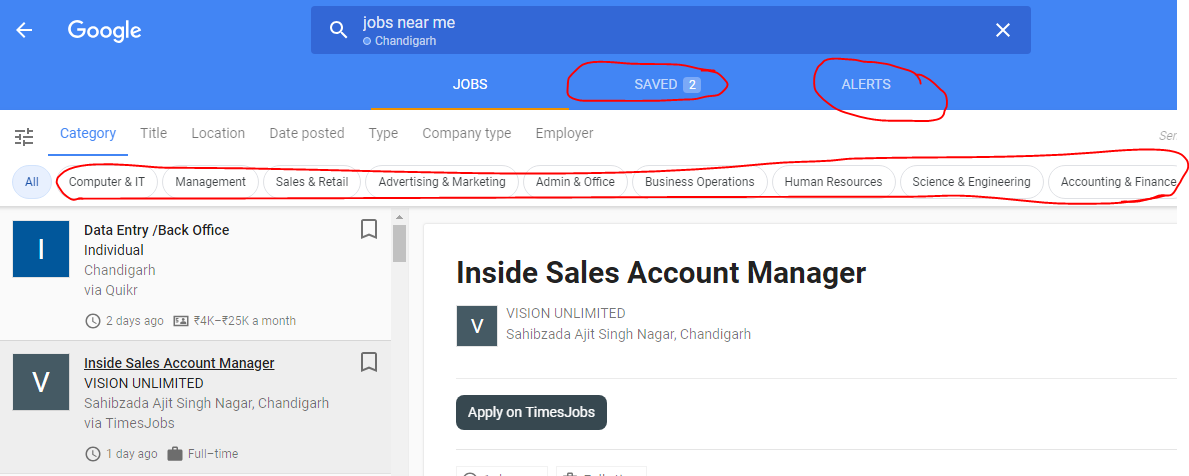 Jobs Near Me Google