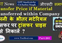 transfer material within company gst