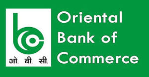 Oriental Bank of Commerce Cash and cheque deposit slip